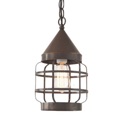 Round Hanging Strap Light In Blackened Tin Country Kitchen Farmhouse Pendant Lighting Kitchen