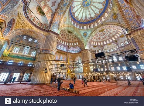 Blue Mosque Interior Photos by Interior Of The Blue Mosque Sultanahmet Camii Sultanahmet Stock Photo Royalty Free Image