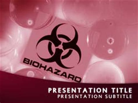 Biohazard Powerpoint Template Free Royalty Free Biohazard Powerpoint Template In Red
