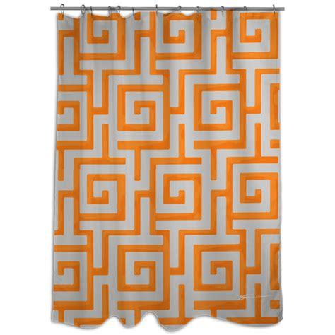 Mod Home Greek Key Orange Shower Curtain Walmart Com