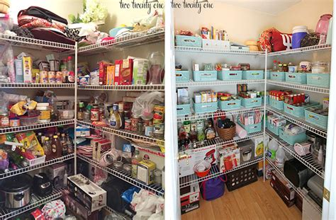 before and after organizing pantry makeover