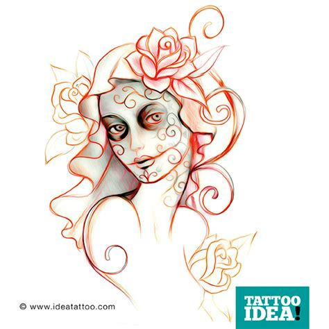 tattoo flash catrina ideatattoo