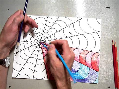 pattern art youtube op art vanishing point coloring a b pattern part 2 2