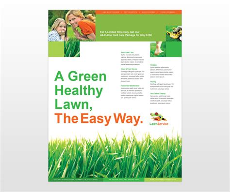 lawn care service flyer template quotes