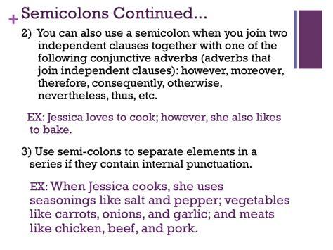 comma or semicolon semicolon vs the comma november 2012