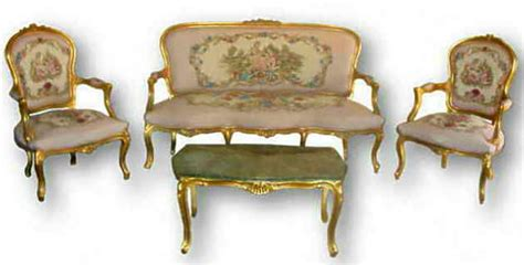 french louis xv style 6 piece salon suite reproduction