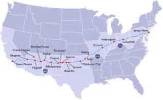 us map i 40 cross country route planning gas food no lodging