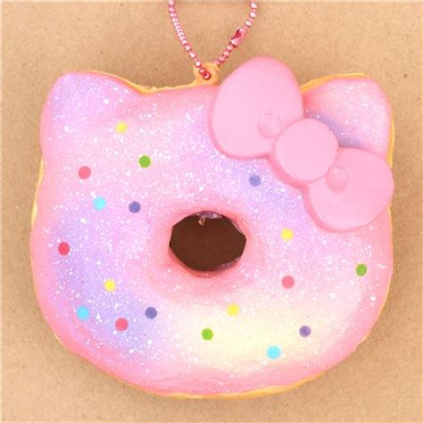 Squishy Cafe Animal Donut Cafe Animal Donut pink light purple colorful dot hello donut squishy charm food squishies squishies shop