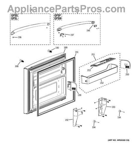Refrigerator Door Replacement Parts by Parts For Ge Gfsf6kkycww Freezer Door Parts