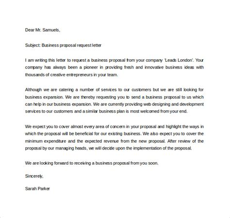 Official Letter Request For Cooperation 32 Sle Business Letters