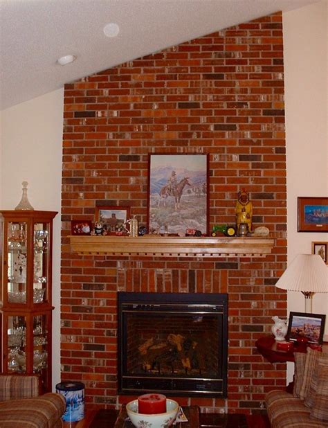 pictures of painted red brick fireplaces brick fireplace pictures pixshark images