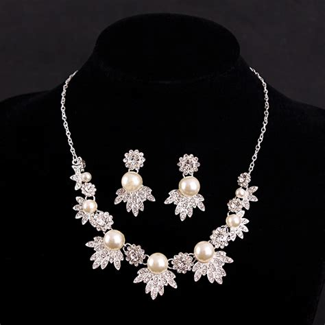 pearl jewelry sets pearl bridal jewelry pearl wedding wedding bridal jewelry set pink pearl leaf necklace