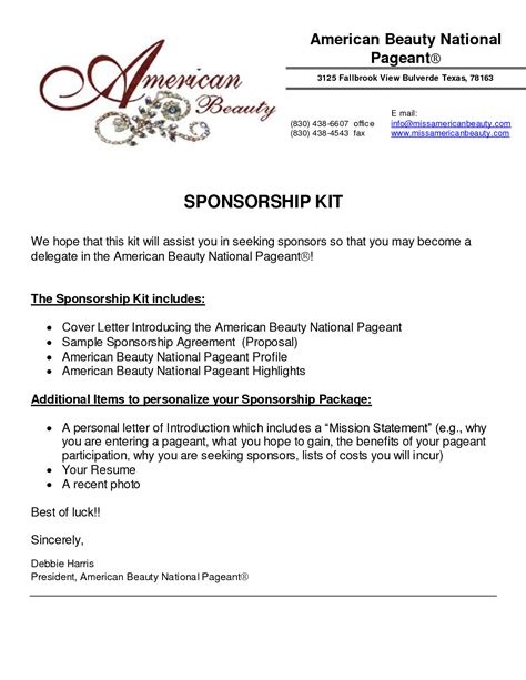 How To Write A Letter For Sponsorship Pdf 6 Sponsorship Templates Excel Pdf Formats