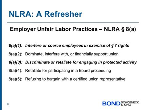 section 8 of the national labor relations act the overlap of social media with the national labor