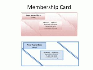 association membership card template card templates free word templates