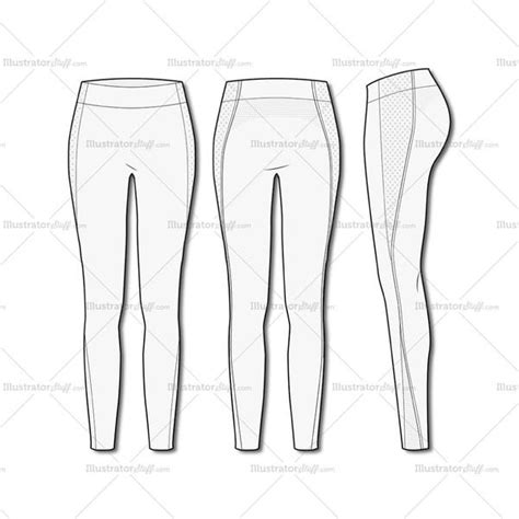 illustrator pattern outline women s fashion seamless sport legging flat template