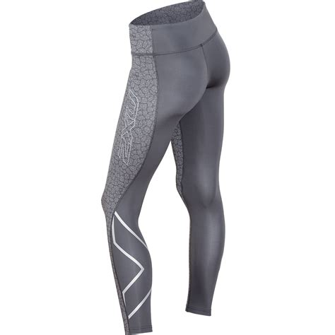 pattern running tights 2xu women s pants pattern mid rise compression tights