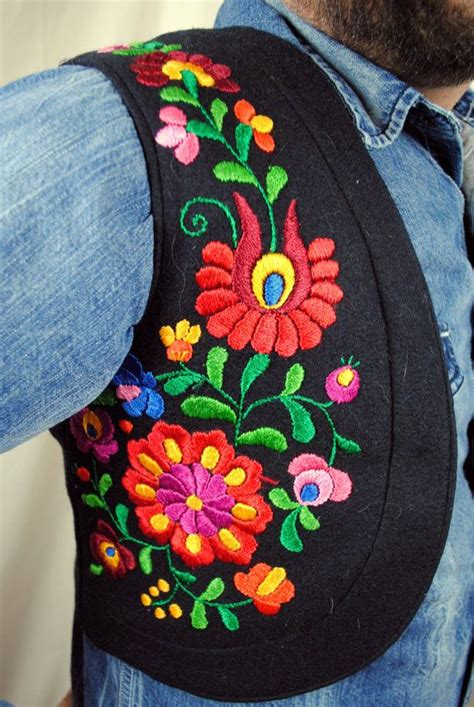 Embroidery Vest Shirt amazing ethnic vintage embroidered vest shirt