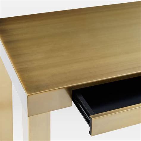 Brass Desk by Parsons Desk Blackened Brass West Elm
