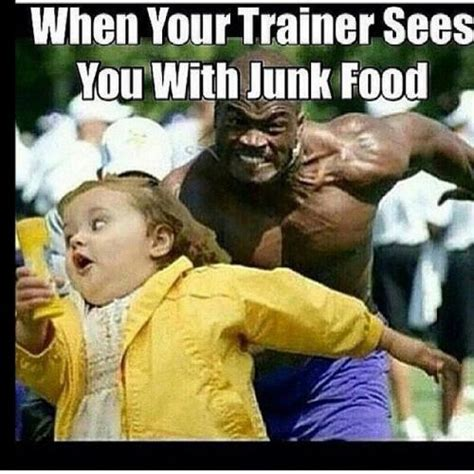trainer sees   junk food