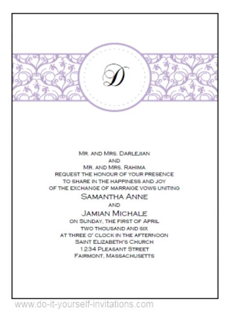 Wedding Announcement Template Wblqual Com | free template wedding invitations wblqual com