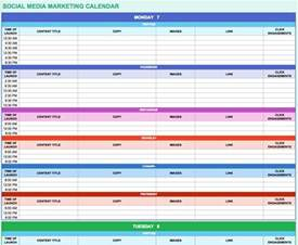 social media marketing calendar template 9 free marketing calendar templates for excel smartsheet
