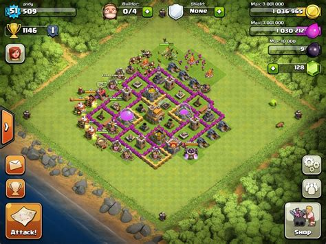 layout of coc level 7 top 10 clash of clans town hall level 7 defense base design