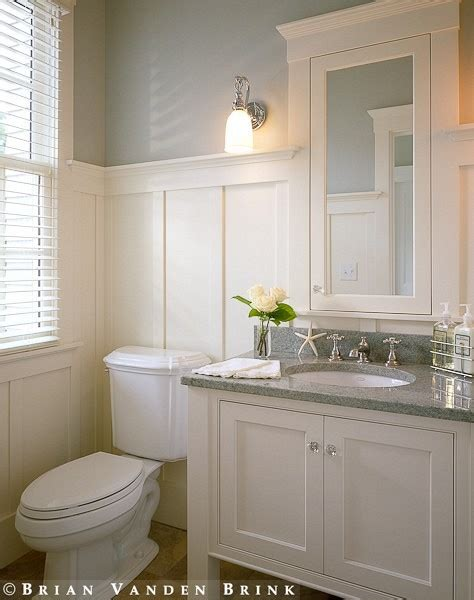bathroom wainscoting and gorgeous paint color this could be a approach to remodeling the