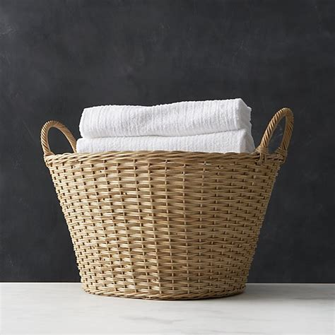 Wicker Laundry Basket Crate And Barrel Wicker Laundry