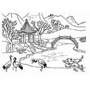 Beautiful Chinese Landscape Coloring Pages