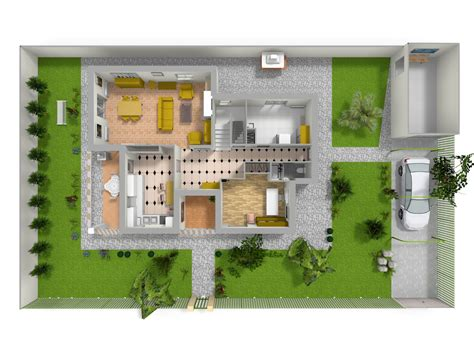 Plan Maison Avec Patio Intérieur by Cuisine Les Plans D De La Maison Des Secrets Am 233 Nagement