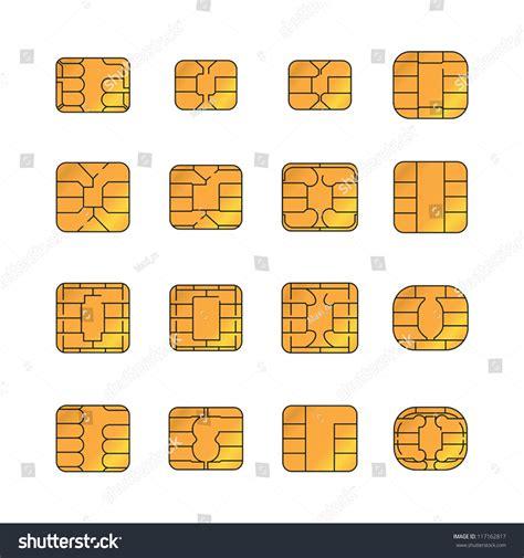 Sim Card Address Finder Sim Card Set Stock Vector Illustration 117162817