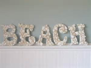 beachy wall decor shell wooden wall letters decor any 5 by