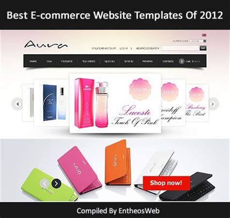 Best E Commerce Website Templates Of 2012 Entheos Best Ecommerce Website Templates Free