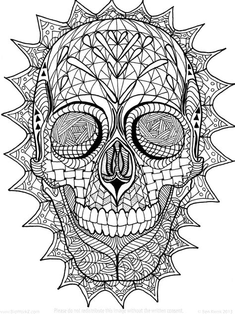 sugar skull coloring pages pdf free coloring page zentangle sugar skull digital coloring pdf