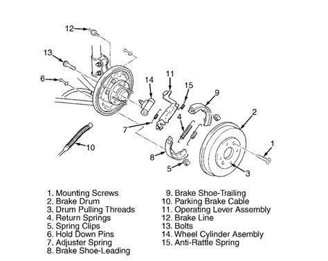 kia sedona parts diagram does anyone a parts illustration for the rear brakes