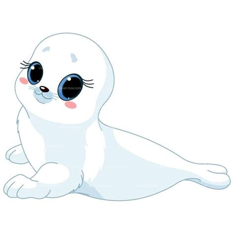 seal clip clipart white baby seal royalty free vector design