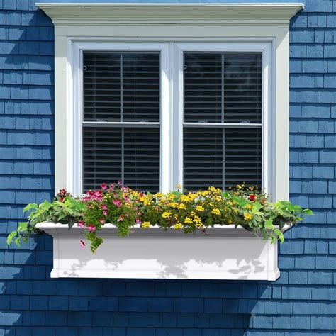 vinyl window flower boxes window boxes pots planters garden center the home