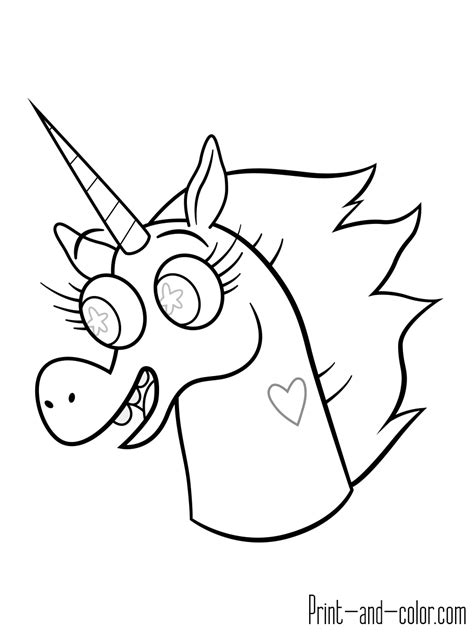 pony head coloring page star vs the forces of evil coloring pages print and