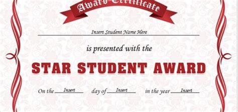 student of the year award certificate templates professional certificate templates