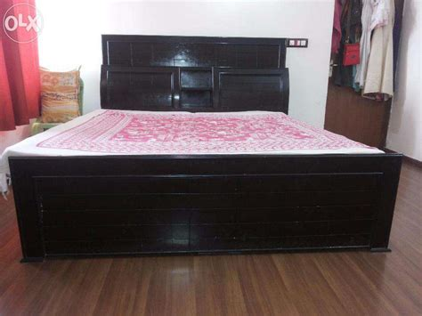 bed designs with good head side boxes double bed box palang clasf