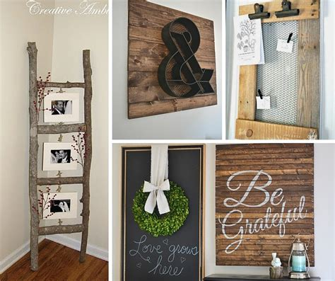home decorative items 31 rustic diy home decor projects refresh restyle