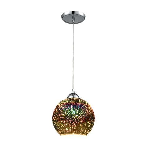 3 In 1 Pendant Lighting Titan Lighting Illusions 1 Light In Polished Chrome With 3 D Starburst Glass Pendant Tn 473012