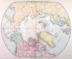 Map Of The World North Pole by Gallery For Gt North Pole World Map