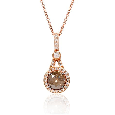 92ct le vian chocolate 14k strawberry gold