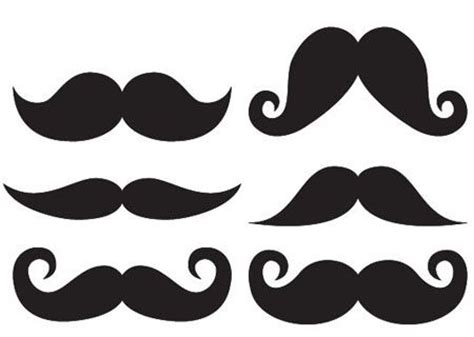 mustache print out template large mustache template clipart best