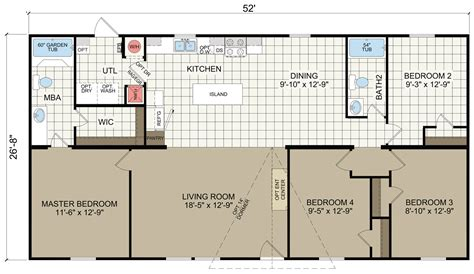 100 1997 fleetwood mobile home floor plan furdi