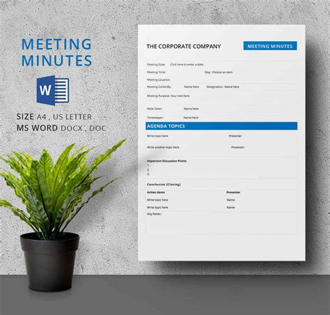meeting notes template excel minutes of meeting sample in minutes