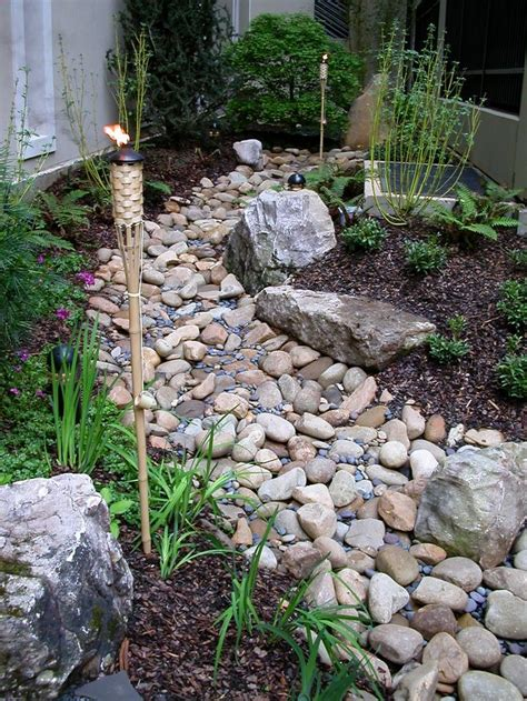 stream bed turning your drainage ditch into a beautiful dry stream bed outdoor landscaping
