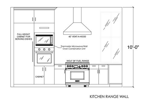 Kitchen Plan Section Elevation by Kitchen Range Wall Elevation Interior Sections